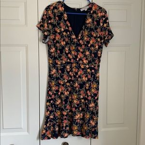 LOFT floral wrap dress from Spring 2019